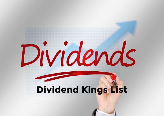 dividend king list