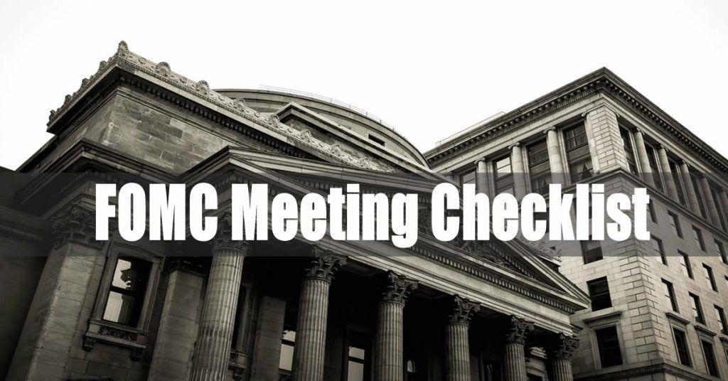 FOMC Meeting Checklist