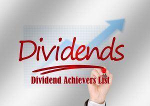 Dividend Achievers List